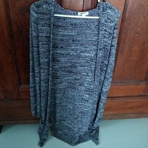 Long Black and White Cardigan
